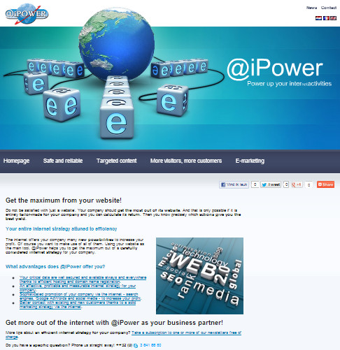 screenshot www.ipower.eu